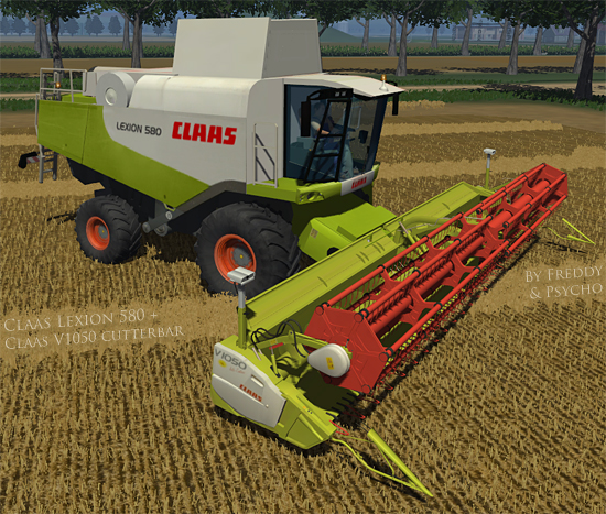 CLAAS Lexion 580 + V1050 Cutterbar